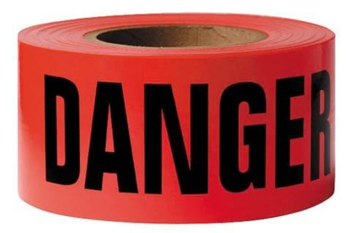 Danger Barricade Tape, 3' x 1000'