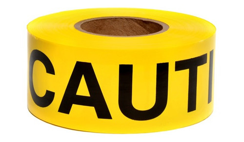 Caution Tape, 3' x 300'