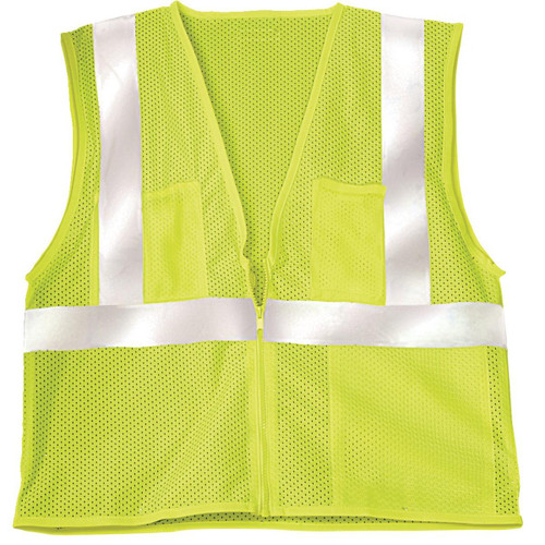 Economy Mesh Hi-Viz ANSI Safety Vest, Class II, Orange or Lime