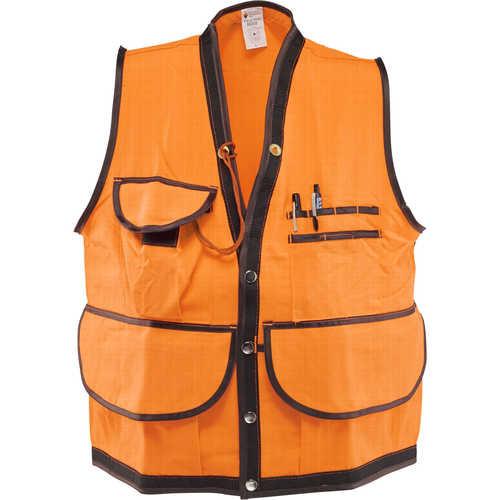 Jim-Gem Pro Orange 10 Pocket Cruiser Vest, 1000D Cordura Nylon