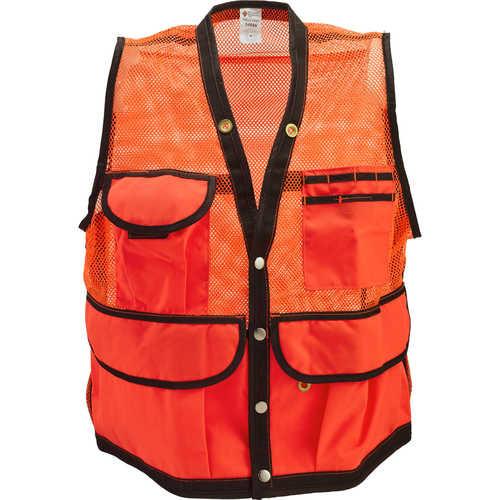 Jim-Gem 8-Pocket Nylon Mesh Cruiser Vest, Hi-Viz Orange or Tan