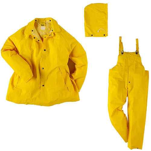 Neese Basic Economy 3 Piece Rainsuit, Yellow, 1600S, XL