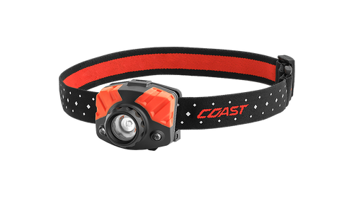 Coast FL75R Dual Color Headlamp, Dual Power