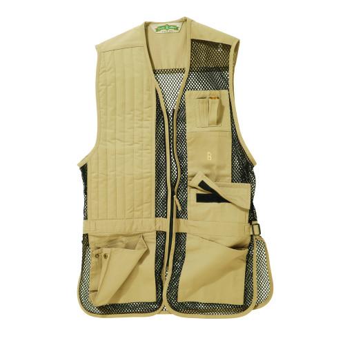 Khaki Mesh Shooting Vest | Single Gun Pad | Bob Allen | 240M