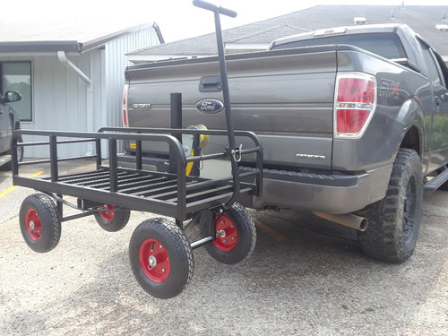 Hitch N Go Cart | Hitch Mount Cargo Rack Wagon with Wheels | Great Day HNGC-350