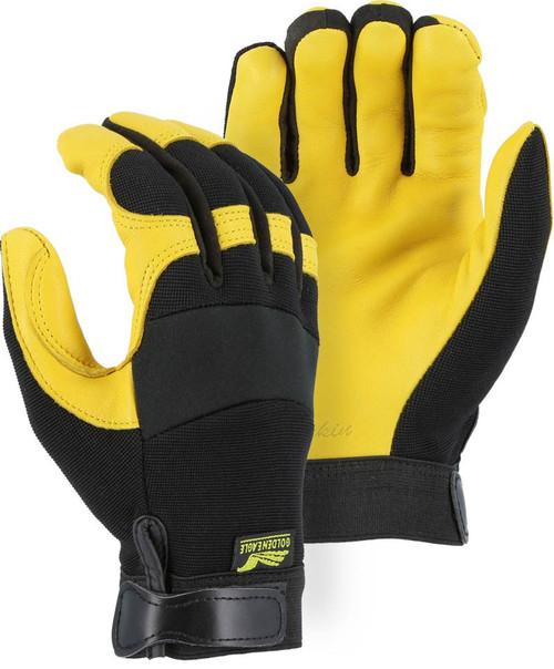 Gold Grain Deerskin Mechanics Gloves | 2150