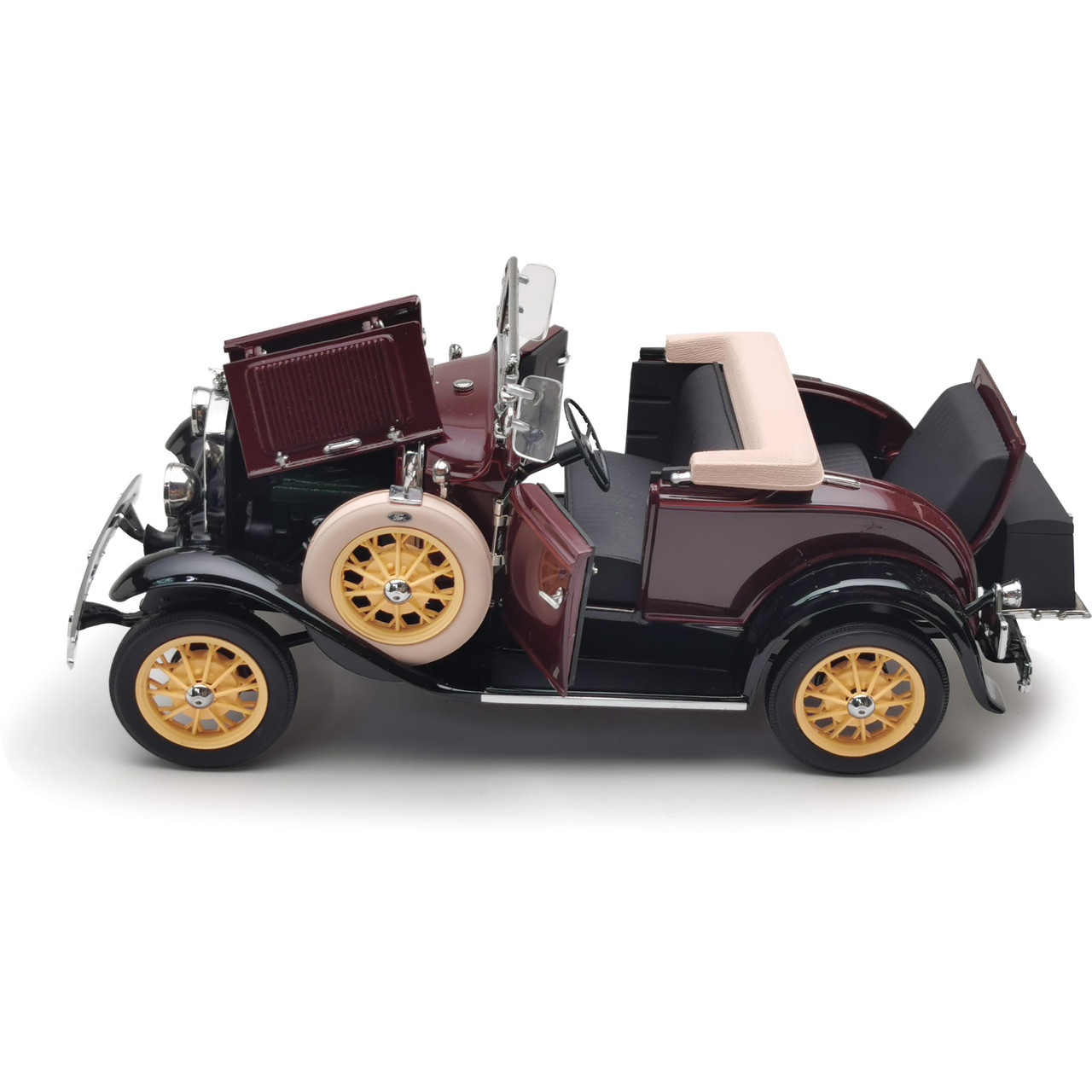 1931 Ford Model A Roadster Burgundy 1 18 Scale Diecast Model By Sunstar Collectable Diecast