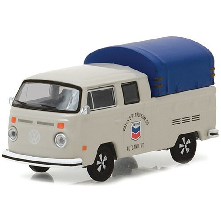 Greenlight 1974 VW Chevron Double Cab Pickup with Canopy 164 Scale Diecast Model by Greenlight 17016NX