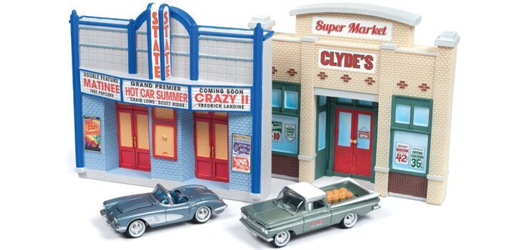 Johnny Lightning Route 66 Diecast Diorama Two Pack 164 Scale Diecast Model by Johnny Lightning 18926NX