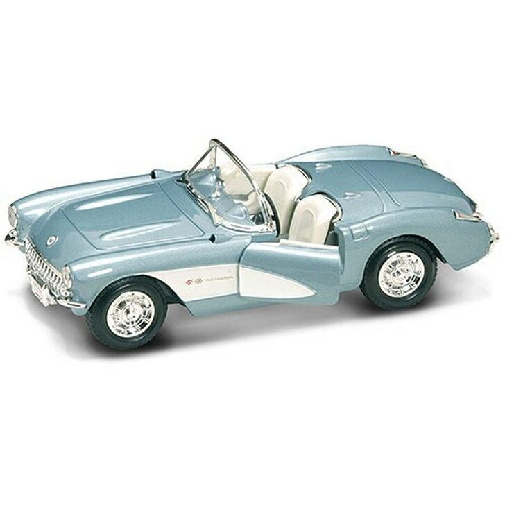 Road Signature 1957 Corvette - Blue 124 Scale Diecast Model by Road Signature 15323NX 888693110110
