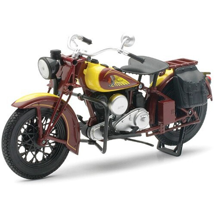 New-Ray Toys 1934 Indian Scout Sport Motorcycle 112 Scale Diecast Model by New-Ray Toys 17246NX