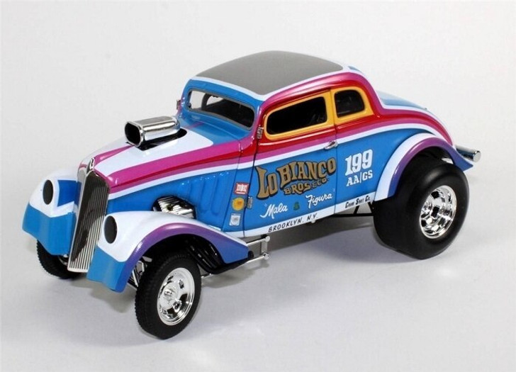 Acme Acme 1933 LoBianco Brothers Gasser Multi-colored Blue/White 118 Scale Diecast Model by Acme GM1800902