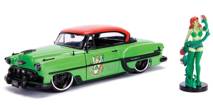 Jada Toys Poison Ivy 1953 Chevy Bombshell Bel Air 124 Scale Diecast Model by Jada Toys 19090NX