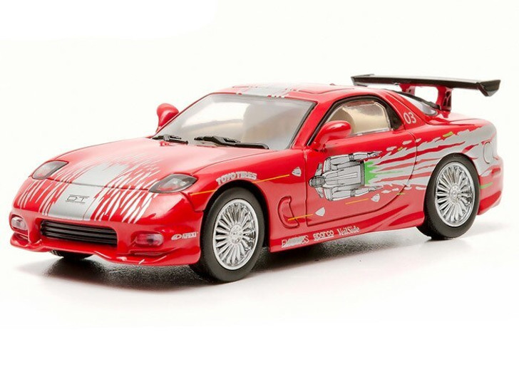 Greenlight Fast and Furious 1993 Mazda RX-7 1/43 Red - Greenlight Diecast 143 Scale Diecast Model by Greenlight GL86204