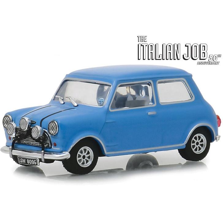 Greenlight The Italian Job 1967 Austin Mini Cooper S - blue 143 Scale Diecast Model by Greenlight 19439NX 8197250245878