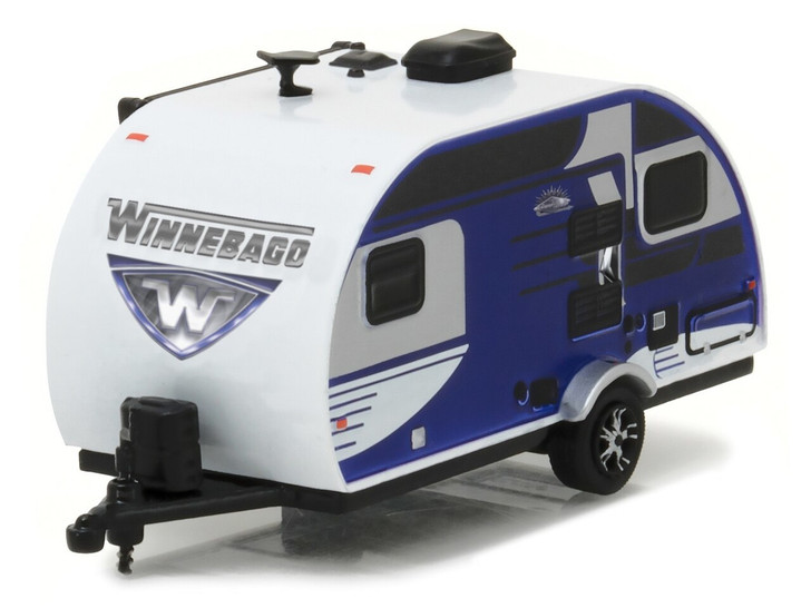 Greenlight 164 Hitched Homes Series 2 - 2016 Winnebago Winnie Drop - Blue Solid Pack 164 Scale Diecast Model by Greenlight GL34020-D