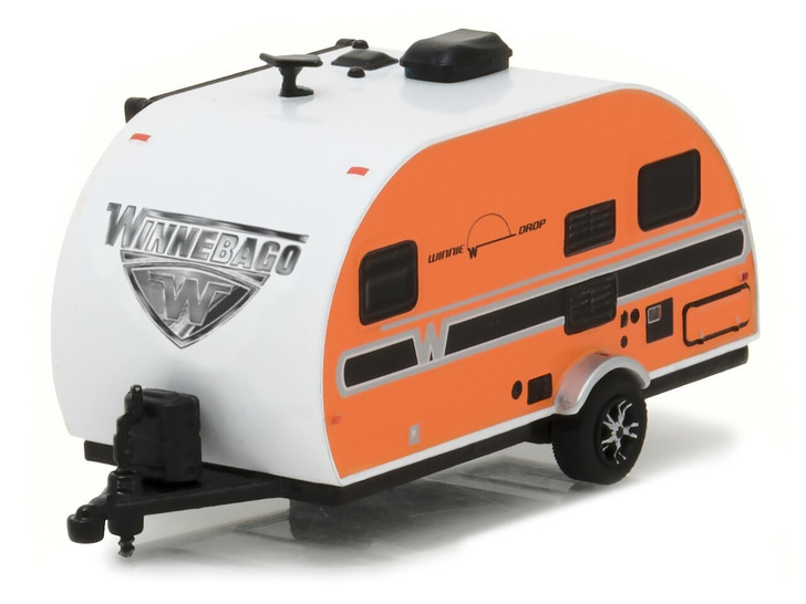 Greenlight 164 Hitched Homes Series 2 - 2017 Winnebago Winnie Drop - Orange Solid Pack 164 Scale Diecast Model by Greenlight GL34020-E
