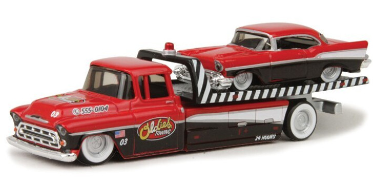 Maisto 1957 Chevy Flatbed and 1957 Bel Air Transport Collection 164 Scale Diecast Model by Maisto 18633NX