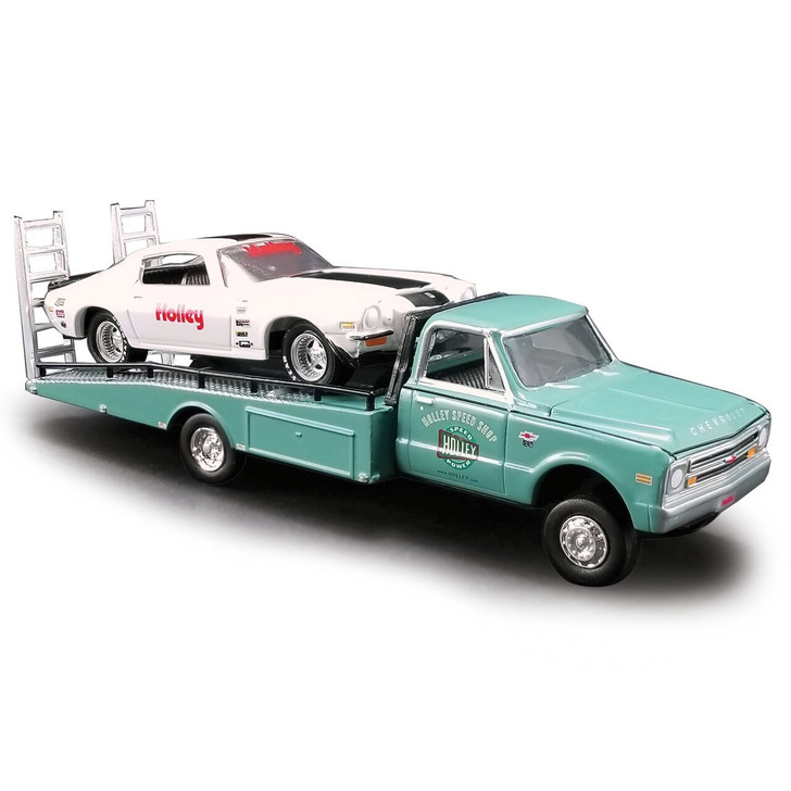 Acme Holley Speed Shop 1971 Camaro Ramp Truck Collection 164 Scale Diecast Model by Acme 19466NX