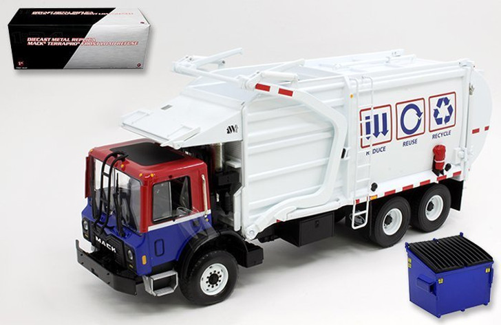 First Gear First Gear 1/34 Mack Terrapro Truck with Fuel Refuse 134 Scale Diecast Model by First Gear FG10-3993