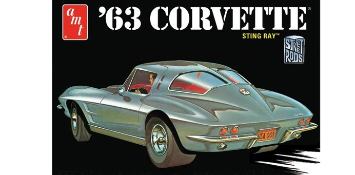 AMT 1963 Chevy Corvette 125 Scale Diecast Model by AMT 16909NX