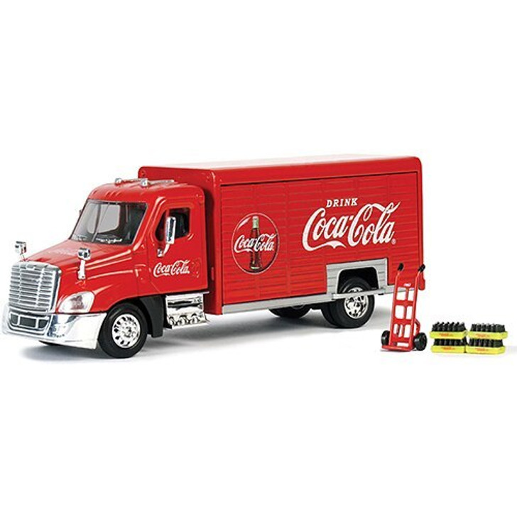 Motor City Classics Coca-Cola Delivery Truck with Hand Truck and Soda Cases 150 Scale Diecast Model by Motor City Classics 19396NX