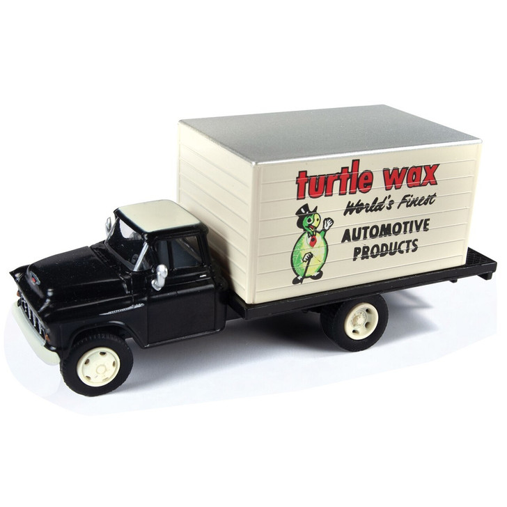 Classic Metal Works 1955 Turtle Wax Chevy Box Truck 187 Scale Diecast Model by Classic Metal Works 19519NX