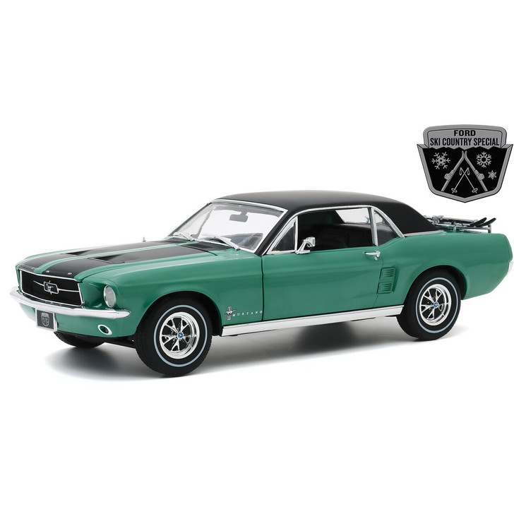 Greenlight 1967 Ford Mustang Coupe Ski Country Special 118 Scale Diecast Model by Greenlight 21359NX 810027492029