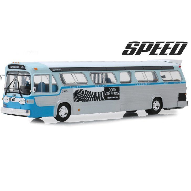 Greenlight SPEED GM Fishbowl Santa Monica Downtown Bus 143 Scale Diecast Model by Greenlight 18678NX