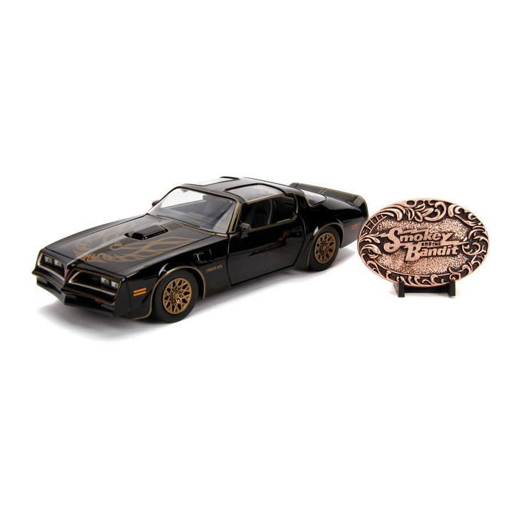 Jada Toys Smokey and the Bandit 1977 Trans Am and Commemorative Metal Plaque 124 Scale Diecast Model by Jada Toys 20035NX 801310309988