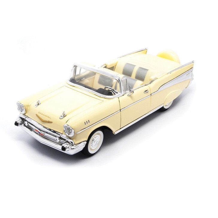 Road Signature 1957 Chevy BEL AIR - Cream 118 Scale Diecast Model by Road Signature 20418NX 888693210827
