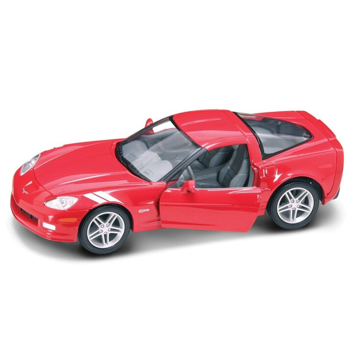 Road Signature 2007 Corvette Z06 - Red 124 Scale Diecast Model by Road Signature 20392NX 888693110714