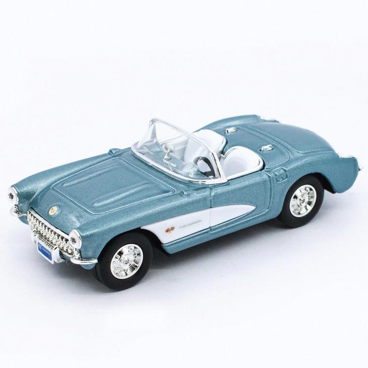 Road Signature 1957 Chevrolet Corvette - Blue 143 Scale Diecast Model by Road Signature 20442NX 888693040936