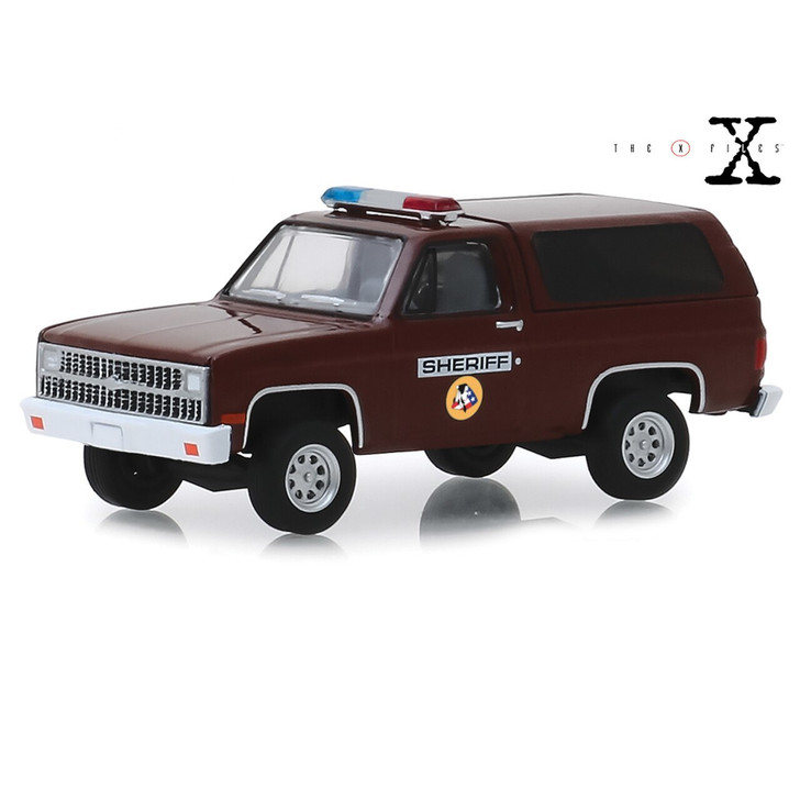 Greenlight The X-Files 1981 Chevrolet K-5 Sheriff Blazer 164 Scale Diecast Model by Greenlight 20075NX 819725027168