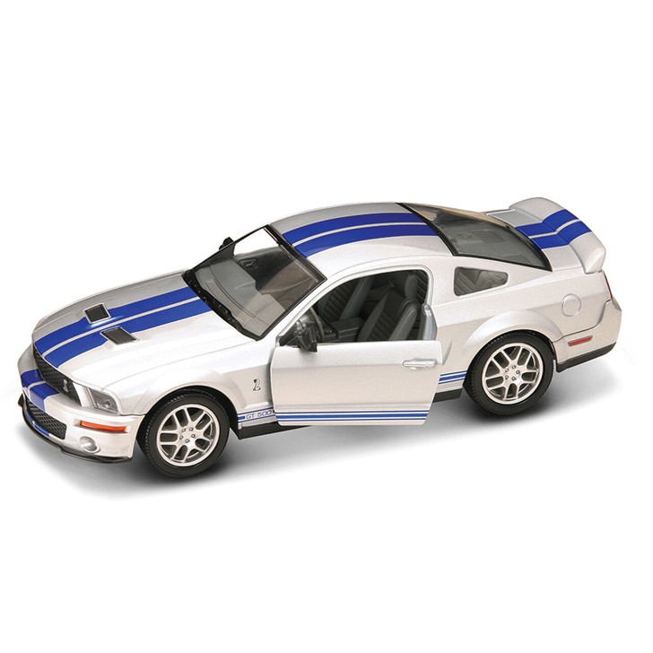 Road Signature 2007 Shelby GT 500 - Silver 124 Scale Diecast Model by Road Signature 20394NX