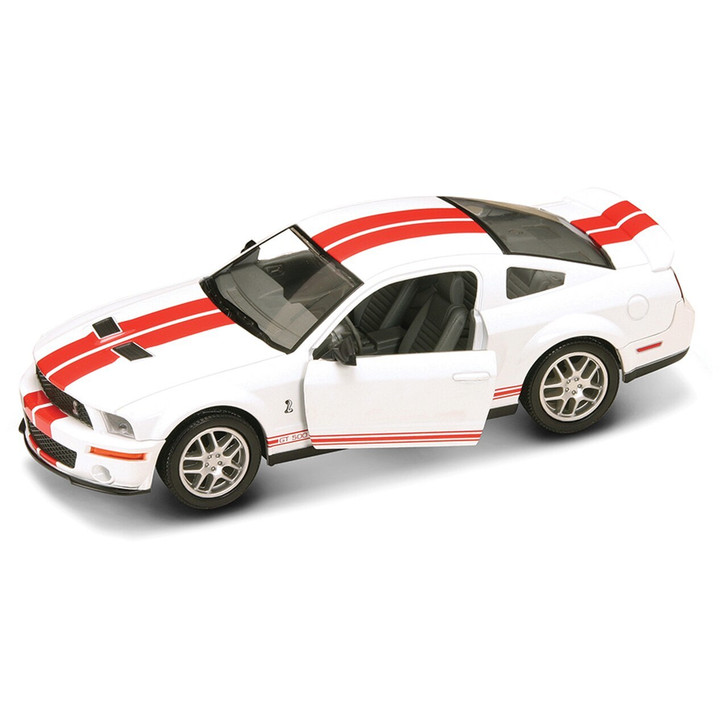 Road Signature 2007 Shelby GT 500 - White 124 Scale Diecast Model by Road Signature 20395NX