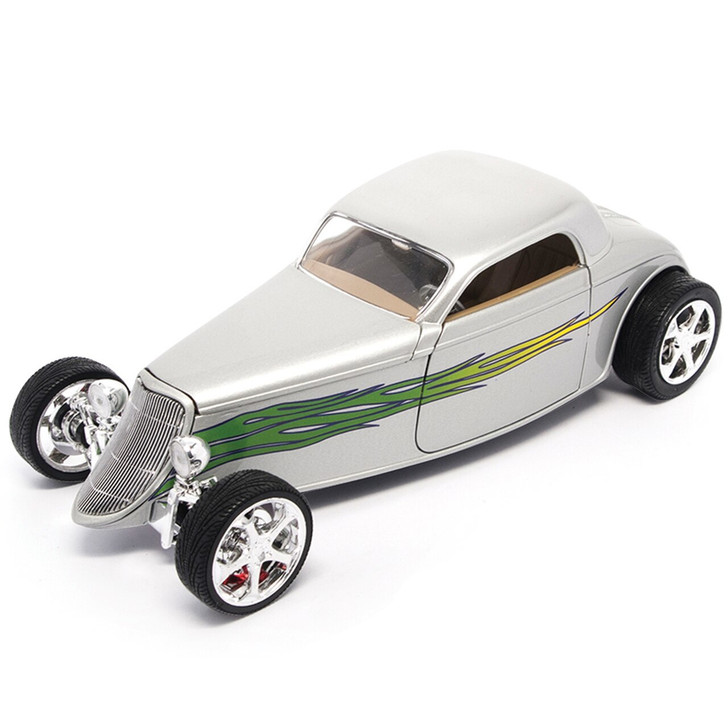 Road Signature 1933 Ford Hot Rod - Silver 118 Scale Diecast Model by Road Signature 20435NX