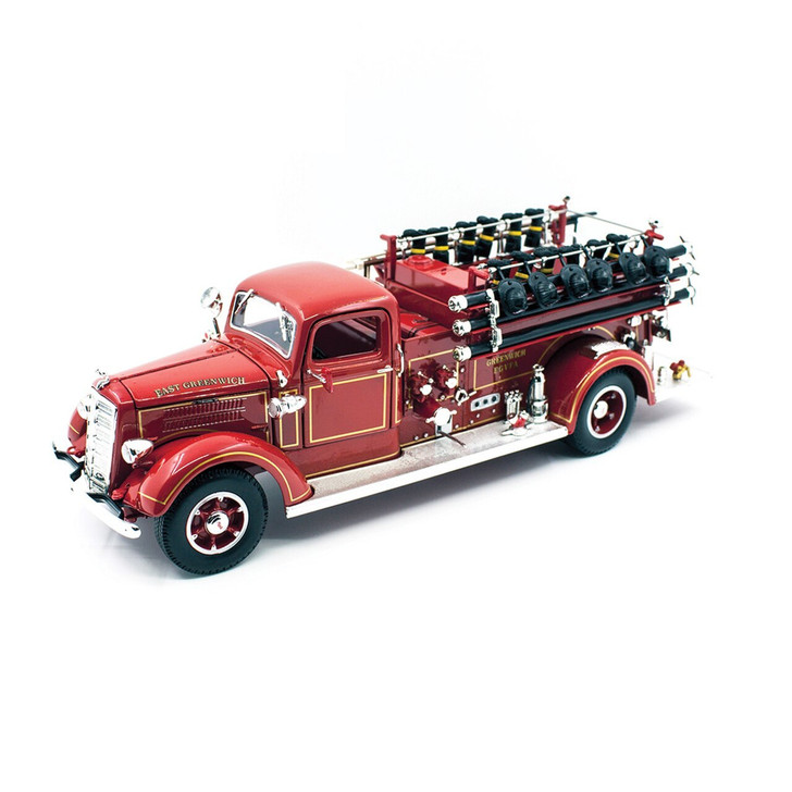 Road Signature 1938 Mack Type 75 Fire Truck 124 Scale Diecast Model by Road Signature 20382NX 888693015811