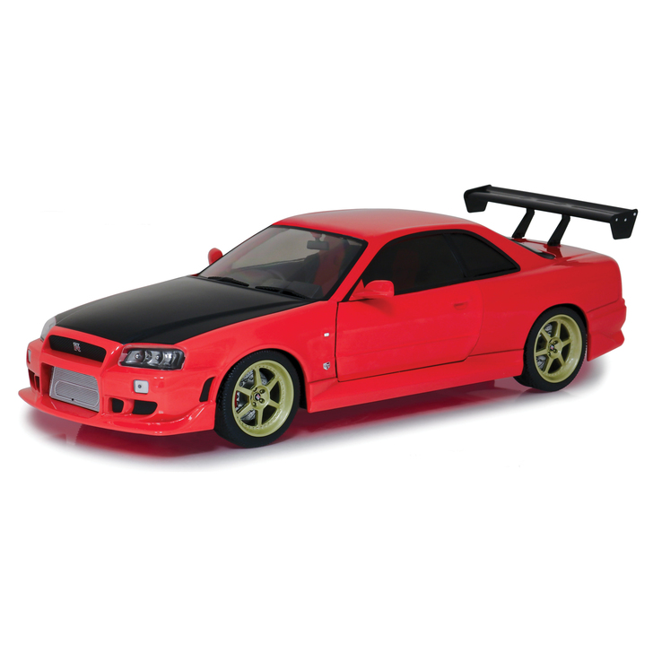 1999 Nissan Skyline GT-R (R34) - Red with Neon Underbody LED Light Main Image