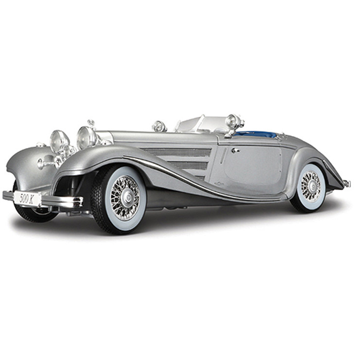 1936 Mercedes 500 K Special Roadster - silver Main Image
