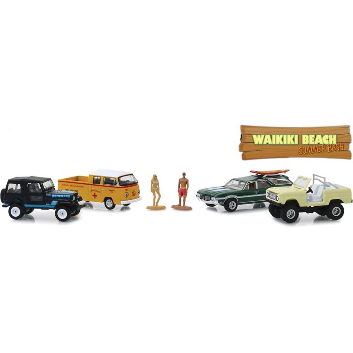 Waikiki Beach Multi-Car Diorama Main Image