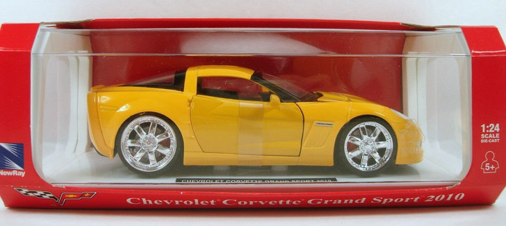 New-Ray Toys 2010 Chevy Corvette Grand Sport 1/24 Yellow 124 Scale Diecast Model by New-Ray Toys NR71986-YL