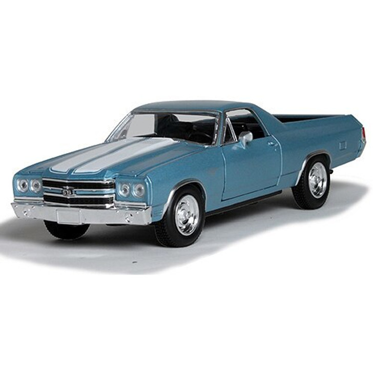 New-Ray Toys 1970 Chevrolet El Camino SS - blue 124 Scale Diecast Model by New-Ray Toys 15809NX