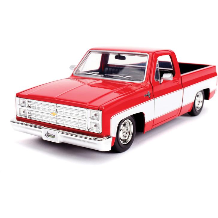 1985 Chevy Silverado C-10 Pickup - Red 1:24 Scale Diecast Model by Jada Main Image