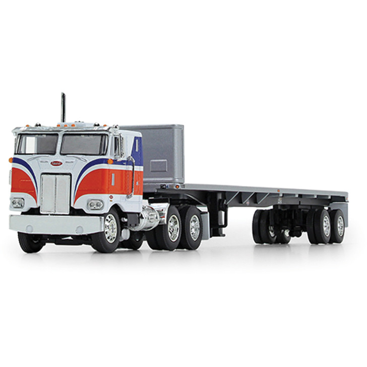 Peterbilt Model 352 86 Sleeper with Flatbed Trailer 1:64 Scale Diecast Model by First Gear Main Image