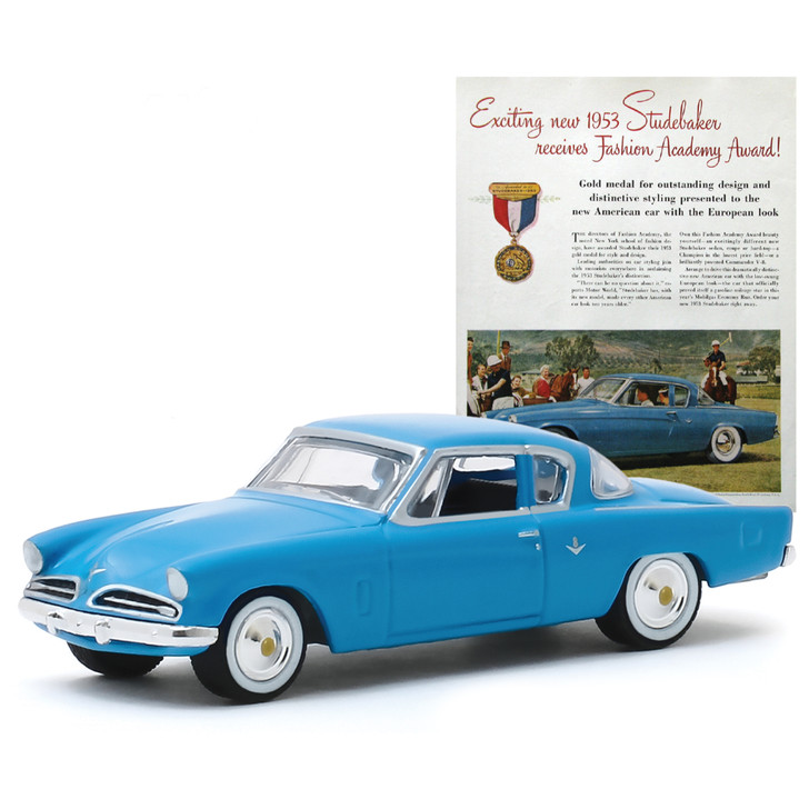 1953 Studebaker Commander Vintage Ad Car 1:64 Scale Diecast Model by Greenlight Main Image