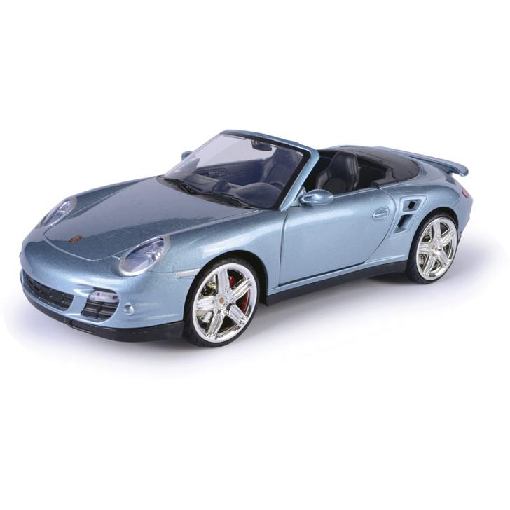 Porsche 911 Turbo Cabriolet - Grey 1:18 Scale Diecast Model by Motormax Main Image