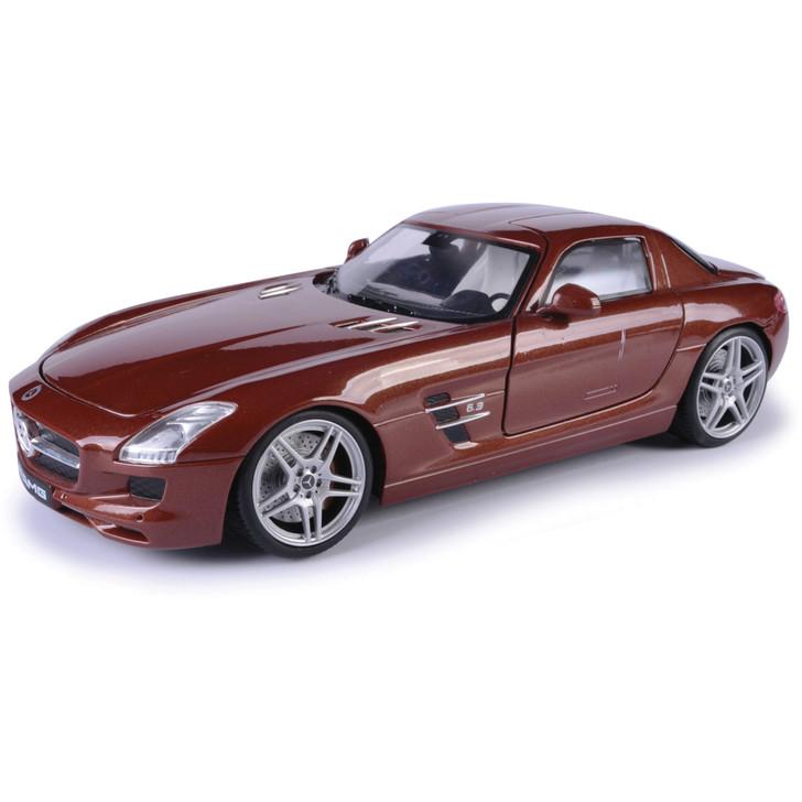 Mercedes SLS AMG - Brown 1:18 Scale Diecast Model by Motormax Main Image