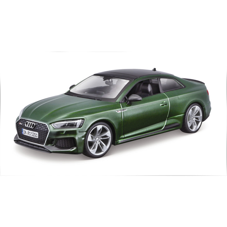 2019 Audi RS 5 Coupe - Green 1:24 Scale Diecast Model by Bburago Main Image