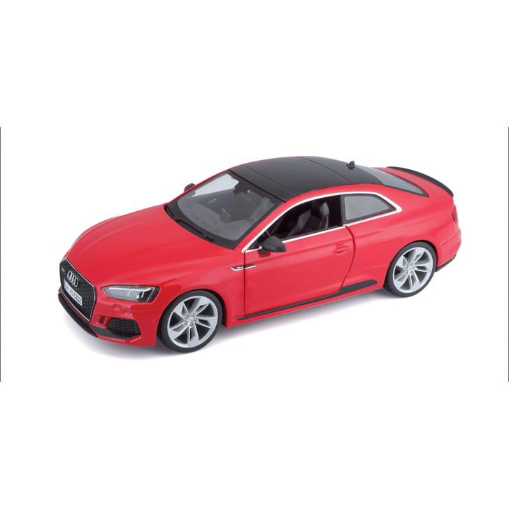2019 Audi RS 5 Coupe - Red 1:24 Scale Diecast Model by Bburago Main Image